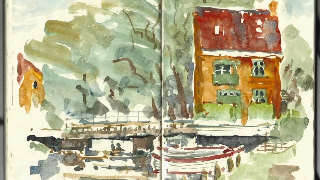 Akvarel skitse