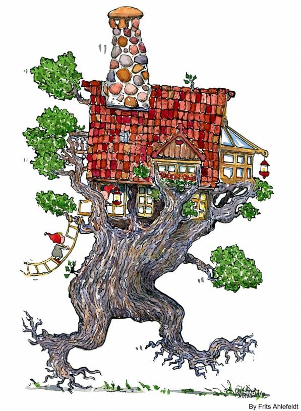 Tegning af et vandrende træ