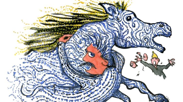 Nietzsche der klynger sig til hest